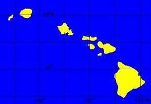 Hawaiian Islands Drawing