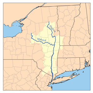Map of the Hudson River Watershed