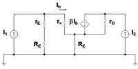 Small-signal circuit for bipolar current mirror