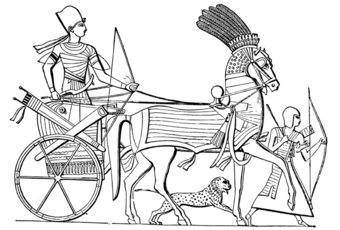 Picture of a chariot (sketch).