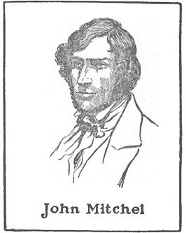John Mitchel (1815-1875); drawing by Harald Toksvig.