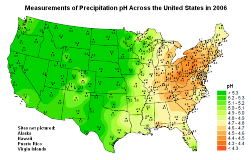 the areas in the united states at risk of acid rain and its effects Acid deposition is a general term that includes more than simply acid rain acid in the united states areas effects reversible acid rain has.