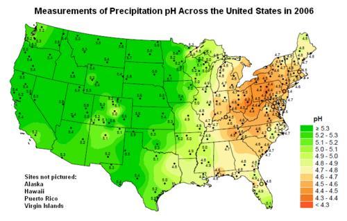 Acid Rain Encyclopedia Article Citizendium - United states precipitation map