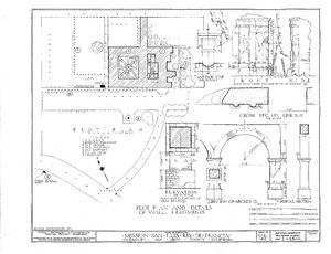 Mission san luis rey de francia gallery citizendium for Plot plan drawing