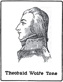 Theobald Wolfe Tone (1763-1798), insurgent of 1798 rebellion; drawing by Harald Toksvig.