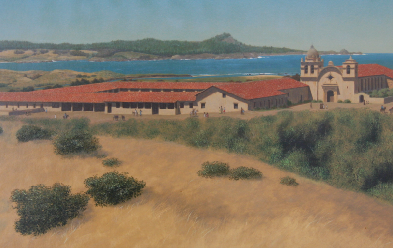 File:Mission San Carlos - Bonestell.png