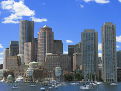 A view of downtown Boston, Massachusetts.