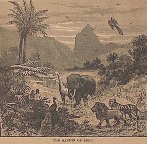 "Image from Charles' Foster's ""The Story of the Bible"", 1884."