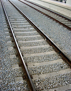 Picture of railroad tracks.
