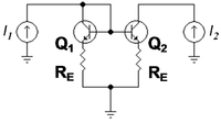 Bipolar current mirror with emitter resistors