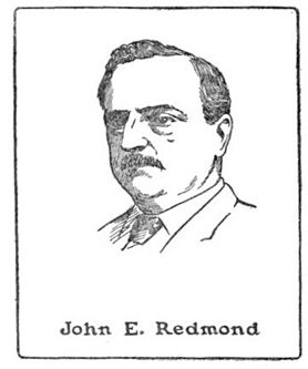 John Redmond (1856-1918), leader of the Irish Party in the United Kingdom Parliament; drawing by Harald Toksvig.