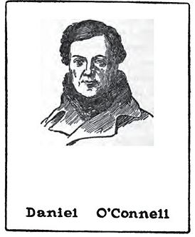 Daniel O'Connell (1775-1847); drawing by Harald Toksvig.