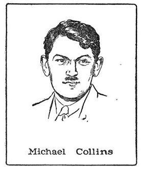 Michael Collins (1890-1922) military leader of Irish Free State; drawing by Harald Toksvig.