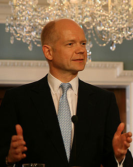 William Hague is currently the UK's foreign minister and therefore head of the Foreign Office.