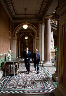 The interior of the FCO building around the time William Hague (left) and Peter Ricketts took up their ministerial duties in May 2010.