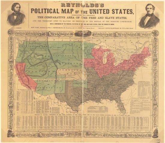 Kansas Nebraska Act Encyclopedia Article Citizendium - Map of us slave states