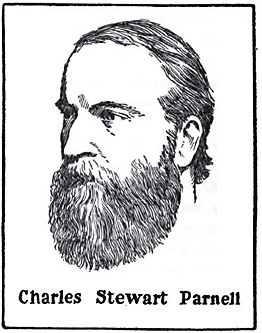 Charles Parnell (1846-1891); drawing by Harald Toksvig.