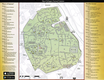 Arlington National Cemetery Encyclopedia Article Citizendium - Arlington cemetery on us map