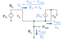 Small-signal circuit for voltage follower.