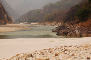 A beach on the banks of Ganges, Rishikesh